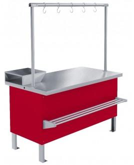 Прилавок мхм охлаждаемый для мяса 1000*850 с креплением для перекладины (встроенный хол. агрегат)
