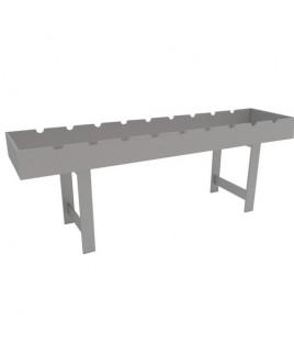 Стол для чистки оружия, 2550х620х900