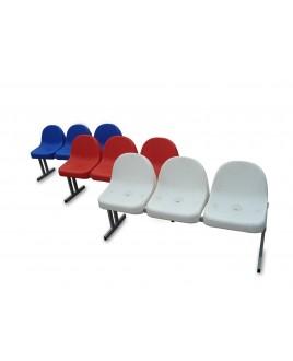 Скамейка зрительская для спорт. сооруж. на 3 места (пластиковые сиденья)