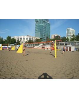Стойки для пляжного волейбола с механизмом натяжения в комплекте с протекторами  и монтажными дерев