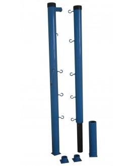 Стойки для б/тенниса с механизмом натяжения со стаканами диаметр 76мм, глубина закладной 350мм