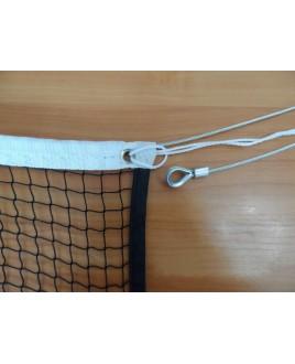 Сетка для бадминтона Ø 1,5 мм, 0,76м х 6,00м, цвет черный, яч.20 мм