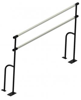 Станок хореографический 2-рядный , напольный 1,5м, жердь металл.