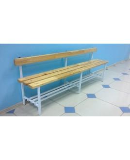 Скамья для раздевалок со спинкой - 1,5м